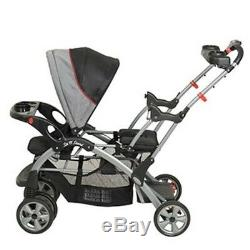 Baby Trend Sit and Stand Double Stroller for Twins 2 Trays with Cup Holders Kids