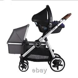 Baby Twin Stroller Double Stroller Luxury Tandem withSecond Seat, Mosquito Net