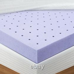 BedStory 3Inch Lavender Infused Mattress Topper Memory Foam Topper Full w Cover