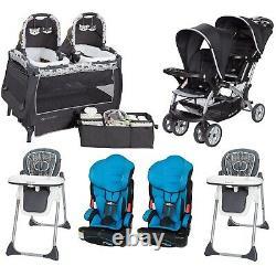 Best Double Stroller Set for 2019 Baby Boys Twins Nursery Center Car Seat Chair