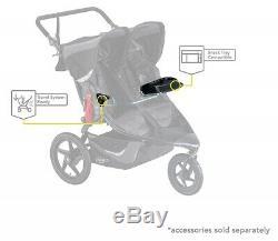 Bob Revolution Flex 3.0 Duallie Twin Baby Double Stroller 2019 Graphite Black