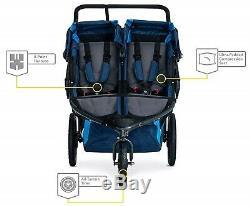 Bob Revolution Flex 3.0 Duallie Twin Baby Double Stroller Glacier Blue NEW 2019