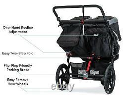 Bob Revolution Flex 3.0 Duallie Twin Baby Double Stroller Lunar Black NEW