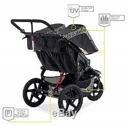 Bob Revolution Flex 3.0 Duallie Twin Baby Double Stroller Lunar Black NEW 2019