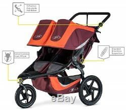 Bob Revolution Flex 3.0 Duallie Twin Baby Double Stroller Sedona Orange NEW 2019