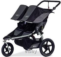 Bob Revolution Flex Duallie Twin Baby Double Jogger Jogging Stroller 2018 Black