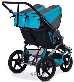 Bob Revolution Flex Duallie Twin Baby Double Jogger Jogging Stroller Lagoon NEW