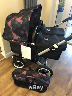 Brand New Bugaboo Donkey2 Duo Or Twin Sets With A Choice Of Coloured Hoods