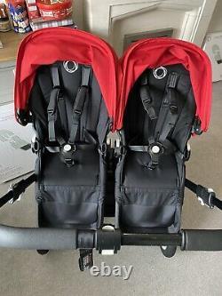 Bugaboo Donkey Black Double Duo Twin Carrycot Etc New Donkey2 Seats Bundle
