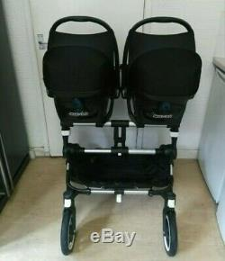 Bugaboo Donkey Complete Twin Sets In Sand With Footmuffs, Parasol Etc