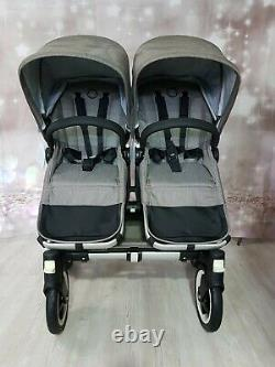 Bugaboo Donkey Double Pushchair Pram Unisex New Mineral Taupe Twin / Mono / Duo