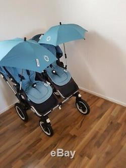 Bugaboo Donkey Duo Twin Pushchair Double Pram Stroller with Extras