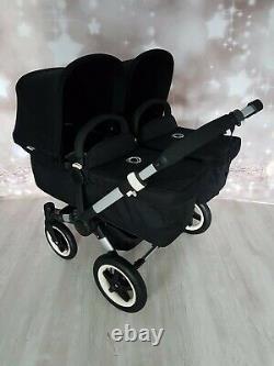 Bugaboo Donkey Twin Double Pushchair Pram Unisex All Black / black Mono / Duo