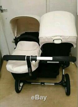 Bugaboo Donkey Twin Full Sets With Car Seats, Footmuff Etc