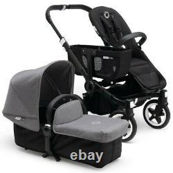 Bugaboo Donkey Twin Grey Melange 2016 Twin Buggy Pram Pushchair Travel System