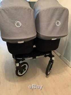 Bugaboo Donkey Twin Pram & Pushchair Grey Used