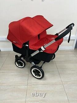 Bugaboo Donkey V1.1 Twin Red Full Double Travel System