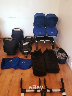 Bugaboo Donkey duo Twins/Double/Single Royal Blue travel system full package