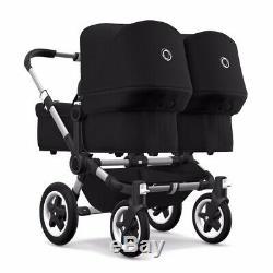 Bugaboo donkey2 twin black stroller NEW