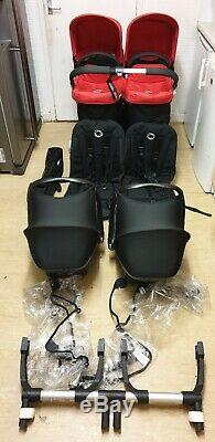 Bugaboo donkey twin with carrycots, car seats etc