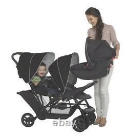 Buggy Pushchair 2 Seat Stroller Double Stroller Twin Pram