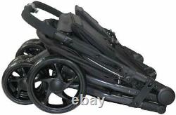 Buggy Pushchair Stroller Pram 2 Seat Double Buggy Twin Stroller With FootMuffs