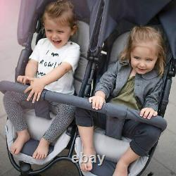 Buggy Pushchair Stroller Pram 2 Seat Double Buggy Twin Stroller With Large Wheel