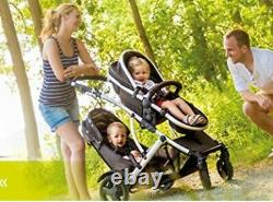 Buggy Pushchair Stroller Pram 2 Seat Double Buggy Twin Stroller With Rain Cover