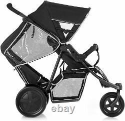 Buggy Pushchair Stroller Pram 2 Seat Double Buggy Twin Stroller up to 36kg