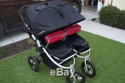 Bumble Ride High End Indie Twin Double Stroller Black/Red BumbleRide Clean