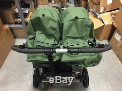 Bumbleride 2018 Indie Twin Double Seat Folding Baby Stroller in Camp Green