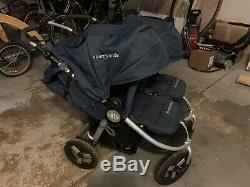 Bumbleride Indie All Terrain Twin Stroller Maritime (Navy) Blue