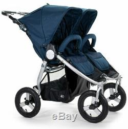 Bumbleride Indie Twin All Terrain Twin Baby Double Stroller Maritime Blue 2020