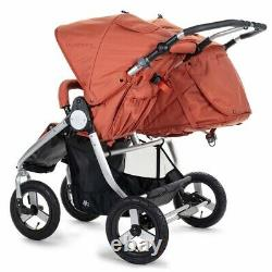 Bumbleride Indie Twin Compact Fold Baby Double Stroller Clay New