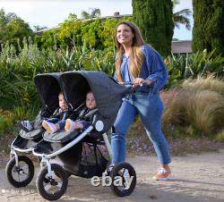 Bumbleride Indie Twin Compact Fold Baby Double Stroller Maritime Blue New