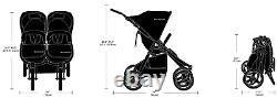 Bumbleride Indie Twin Compact Fold Baby Double Stroller Matte Black New
