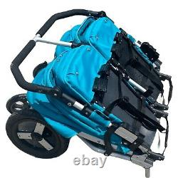 Bumbleride Indie Twin Double Stroller Foldable Easy Transport Storage Good Cond