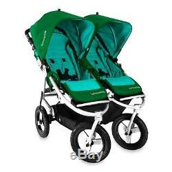 Bumbleride Indie Twin Jogging Stroller in Green Papyrus