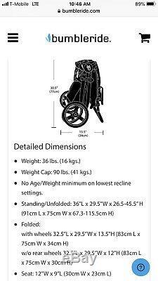 Bumbleride twin Stroller