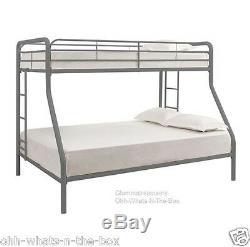 Bunk Bed Full Under Twin Metal Frame Kids Child Furniture Ladder Double