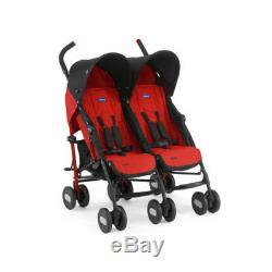 CHICCO Poussette Together Echo Twin Duo Double bébés jumeaux Garnet