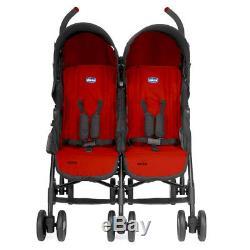 CHICCO Stroller Echo Twin Garnet Double Duo Gemelli Twin Double Stroller