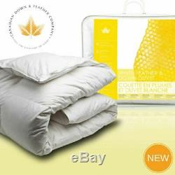 Canadian Down & Feather Co White Feather & Down Duvet (Twin Double Queen King)