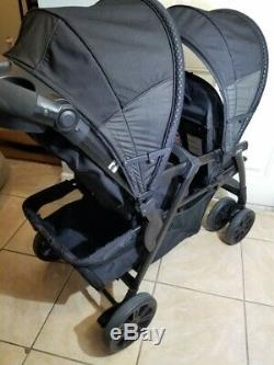 Chicco Cortina Together Double Twin Stroller, Black