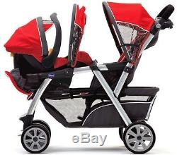 Chicco Cortina Together Twin Baby Double Stroller Minerale NEW