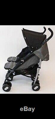 Chicco Echo Twin Stroller Double Baby Pushchair (Coal Grey) With Raincover