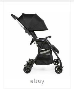 Chicco OhLaLa Twin Stroller (Black Night) with Raincover, Suitable From Birth