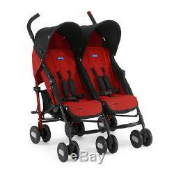 Compact twin stroller Echo Twin 11 Garnet Chicco