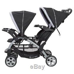 Compatible Travel System Two Car Seats with Baby Double Stroller Twins Combo Set