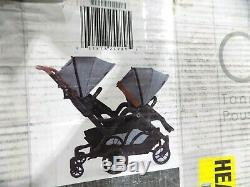 Contours Curve Tandem Double Stroller for Infants, Toddlers or Twins 360° Turn